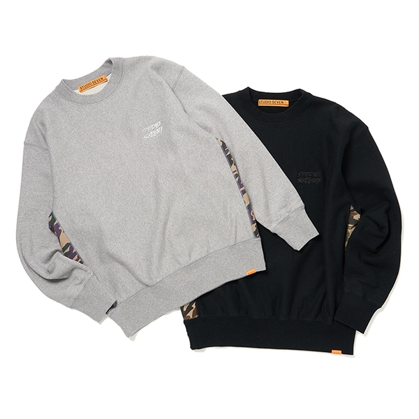 Side Camo Panel Sweat Shirt 詳細画像