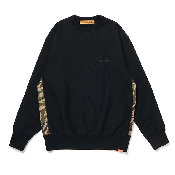 Side Camo Panel Sweat Shirt