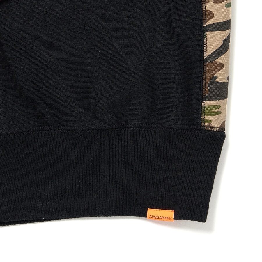 Side Camo Panel Sweat Shirt 詳細画像 H.Grey 2