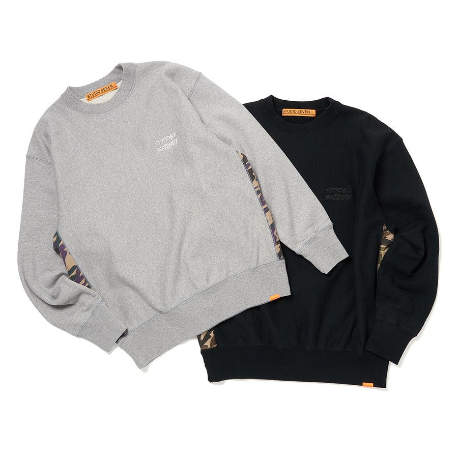 Side Camo Panel Sweat Shirt 詳細画像 H.Grey 6