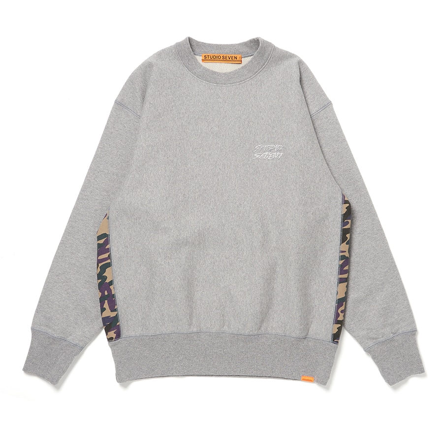 Side Camo Panel Sweat Shirt 詳細画像 H.Grey 1