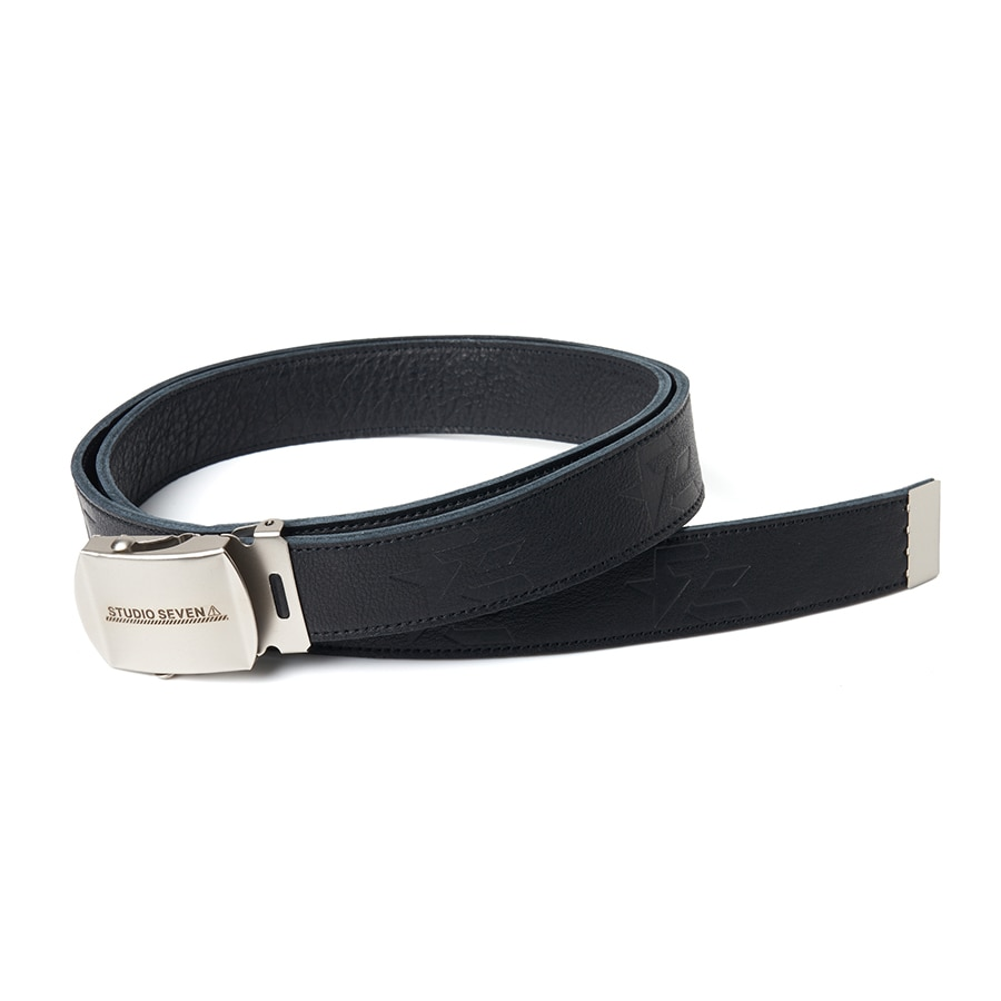 Embossed Leather GI Belt 詳細画像 Black 1