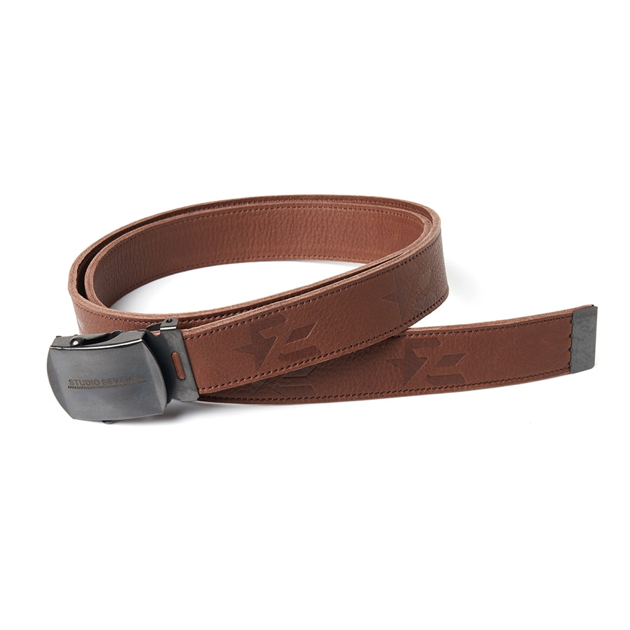 Embossed Leather GI Belt 詳細画像 Brown 1