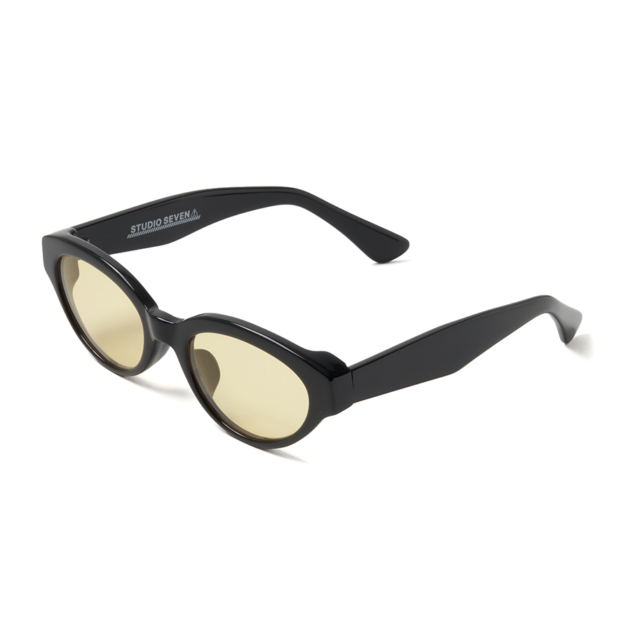 Black Frame Sunglasses 詳細画像 Yellow 1