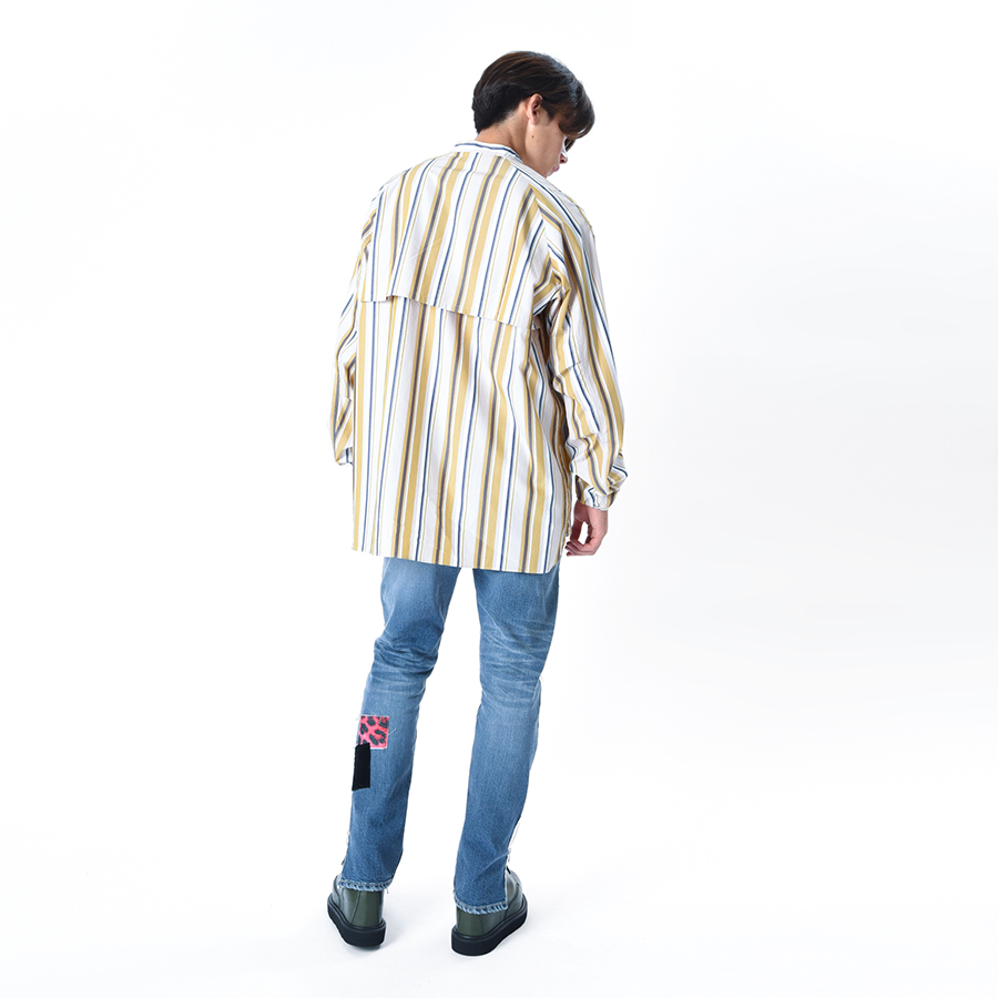 Mao Collar Tall Shirt 詳細画像 Check 2