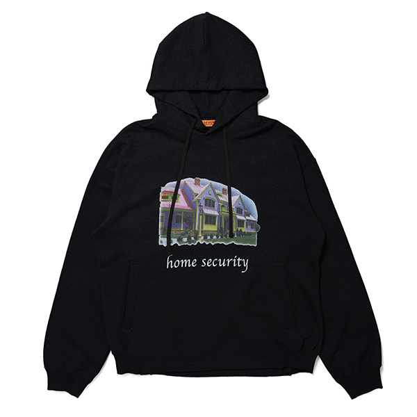 Home Security Back Raglan Hoodie