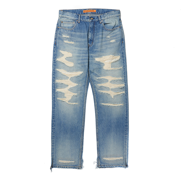 Full Damaged Clash Denim