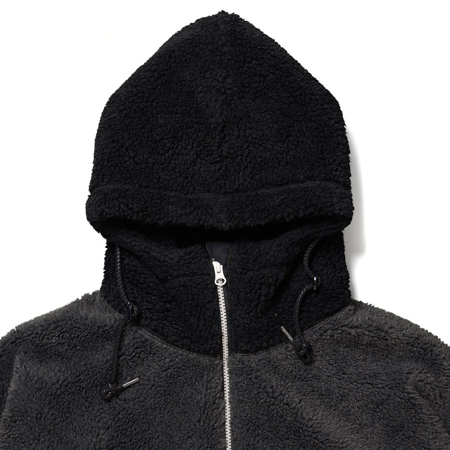 Switching Boa Hood Jacket 詳細画像 Black 2