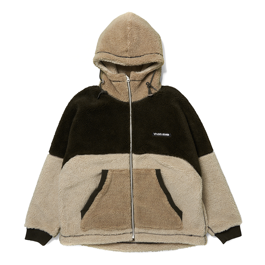 Switching Boa Hood Jacket 詳細画像 Beige 1