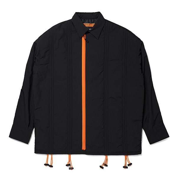 Drawstring Zipper Fly Shirt