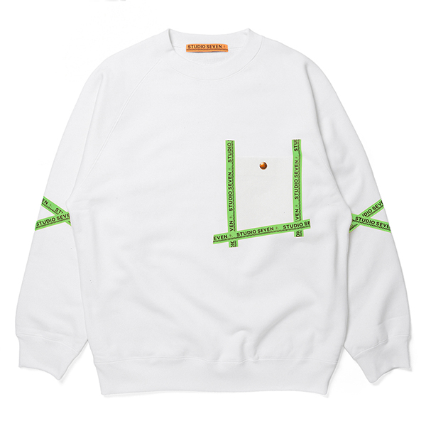 Seam Tape Pocket Heavy Weight  Sweat Shirt