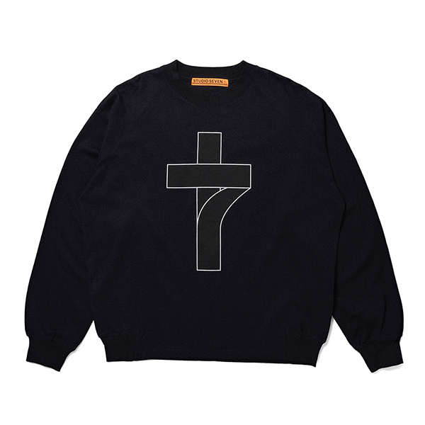 7 Cross Back Raglan LS Tee