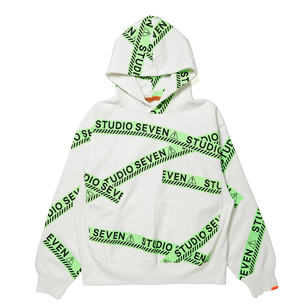 Full Green Caution Hoodie