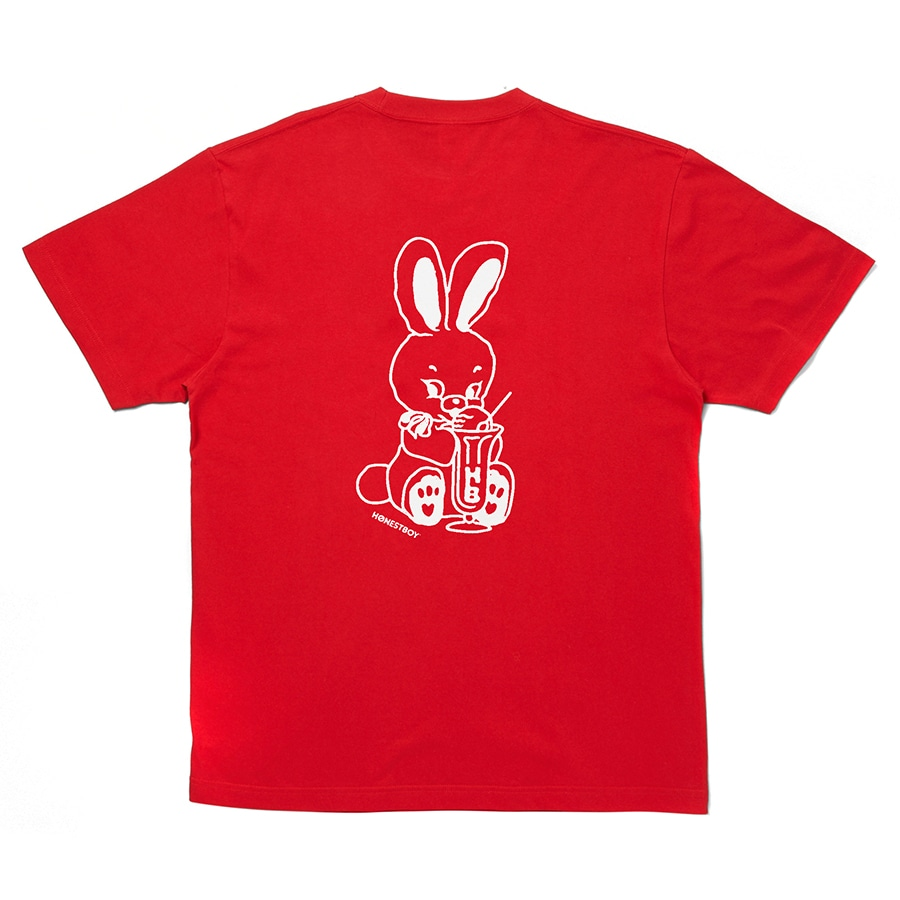 HOME SWEET HOME Rabbit Tee 詳細画像 Red 1
