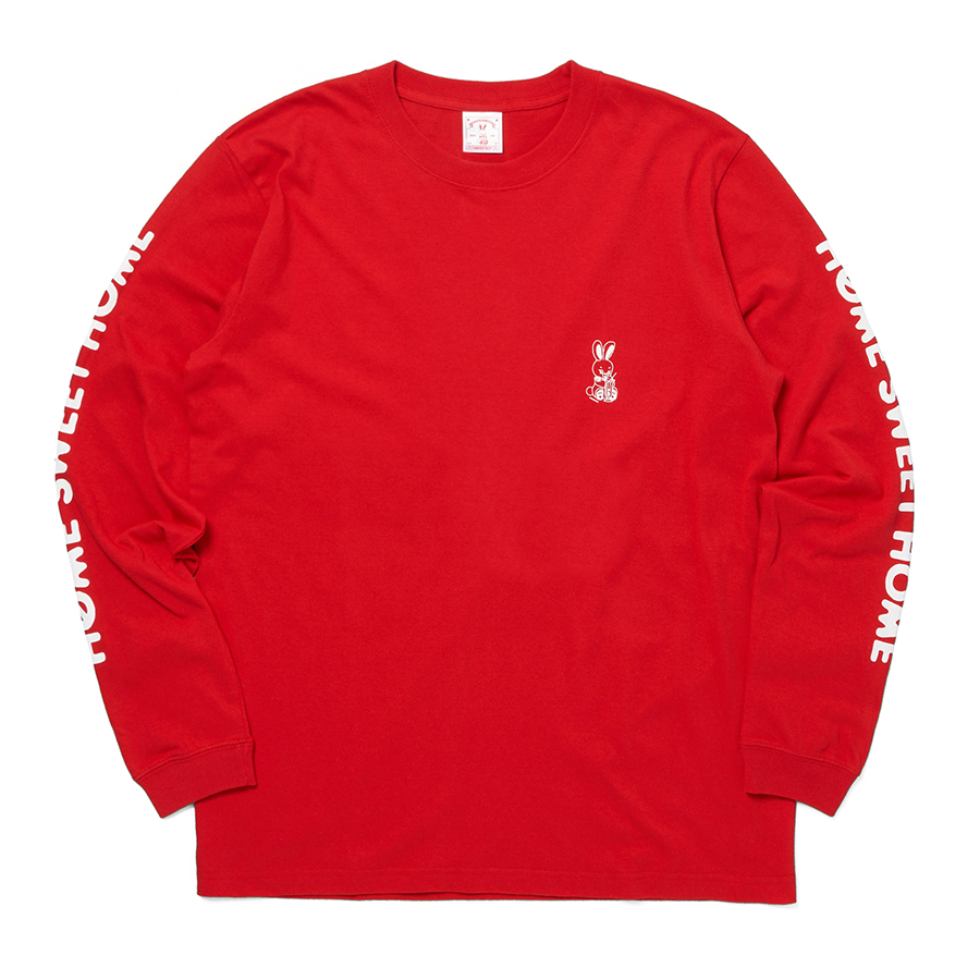 HOME SWEET HOME Rabbit LS Tee 詳細画像 Red 1