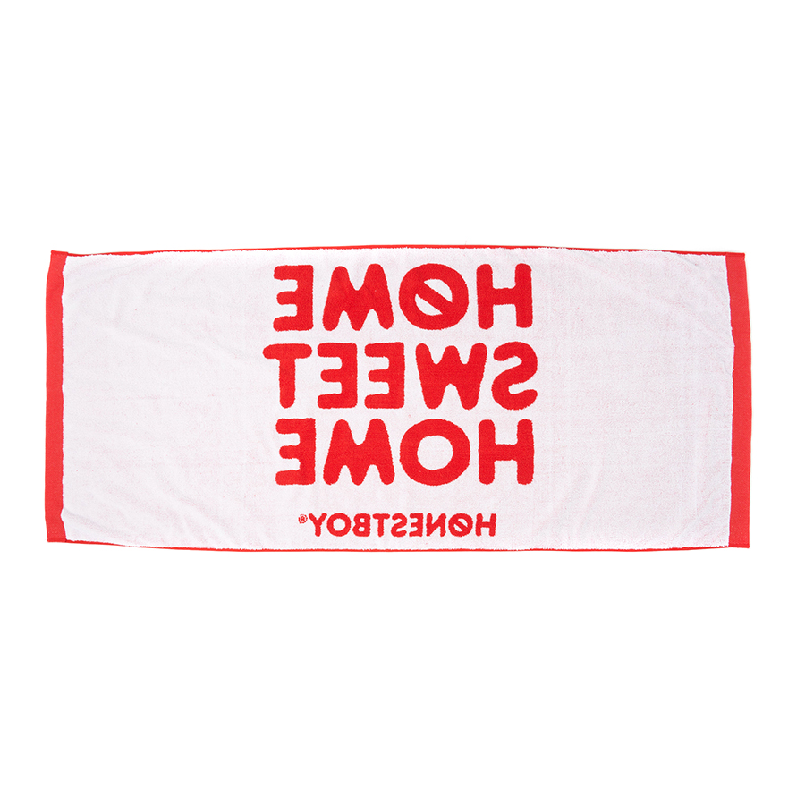 HOME SWEET HOME Towel 詳細画像 Red 1