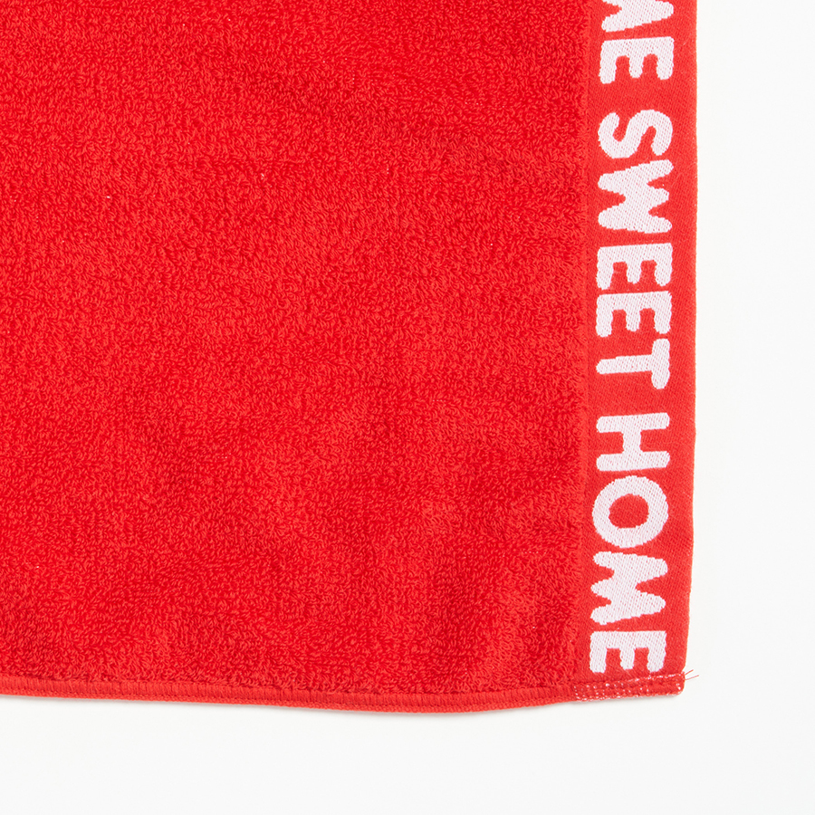 HOME SWEET HOME Towel 詳細画像 Red 3