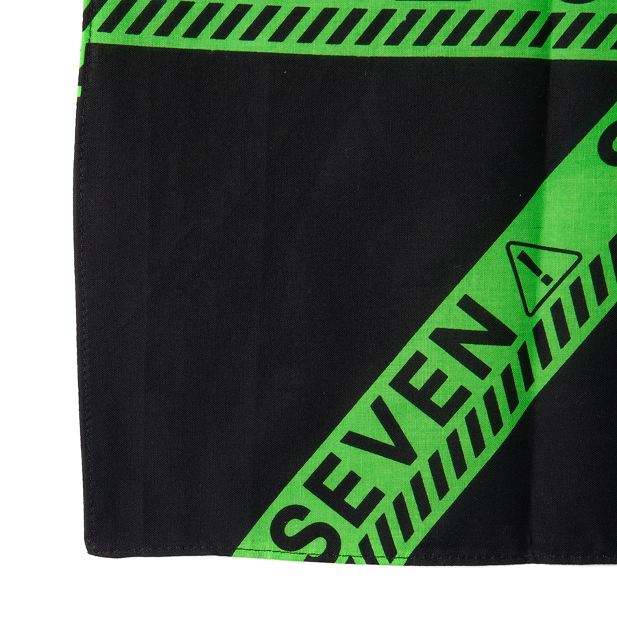 Full Green Caution Bandana 詳細画像 White 2