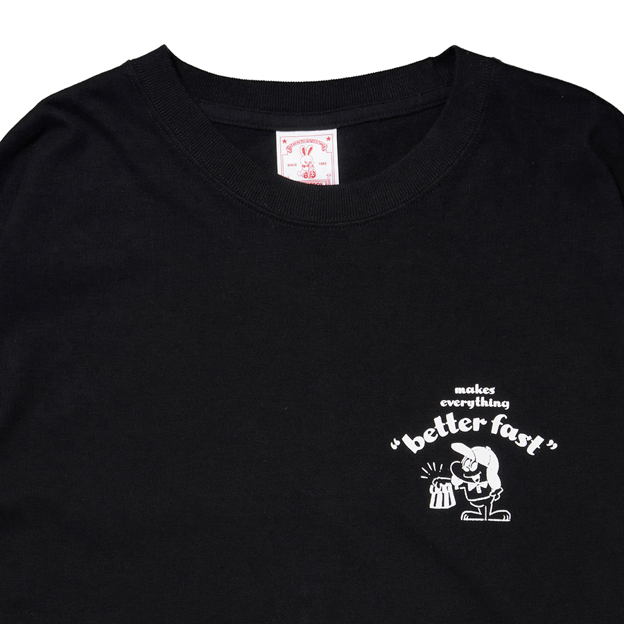 HONEST DELIVERY Better Fast LS Tee 詳細画像 Black 2