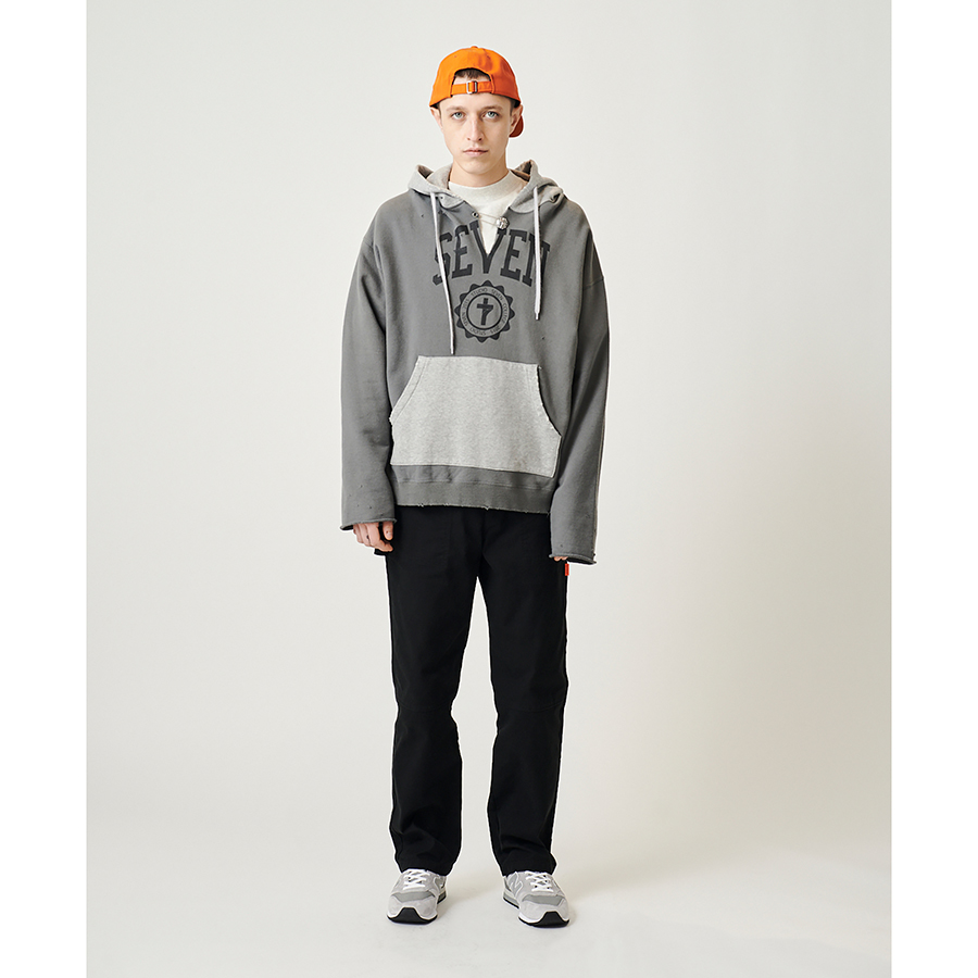 Cut-Off Overdyed Hoodie 詳細画像 Grey 4