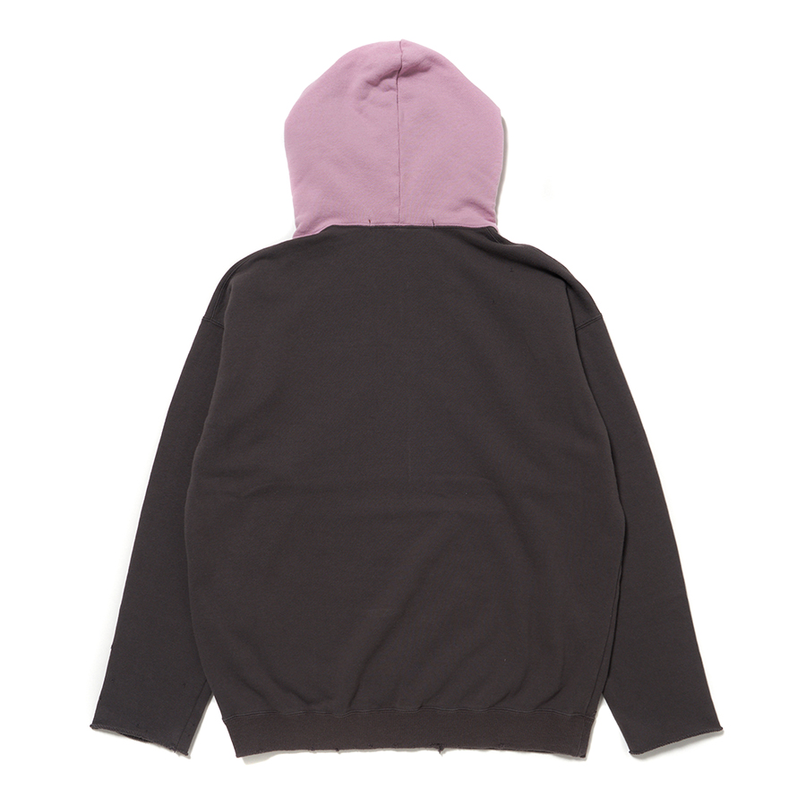 Cut-Off Overdyed Hoodie 詳細画像 Grey 5