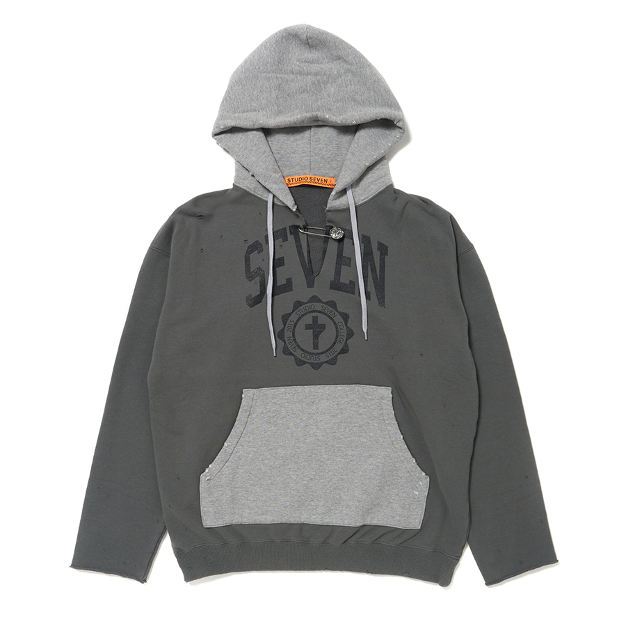 Cut-Off Overdyed Hoodie 詳細画像 Grey 1